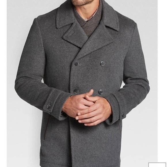 7ee04aa75 Joseph Abboud grey modern fit 3/4 wool coat